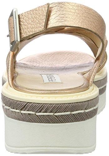PEPEROSA 922, Sandales Compensées femme Beige (Rame)