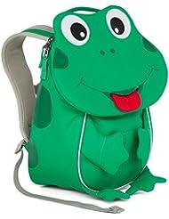 Affenzahn Kinderrucksack mit Brustgurt für 1-3 jährige Jungen und Mädchen im Kindergarten oder Kita der kleine Freund Finn Frosch - grün