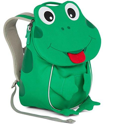 Affenzahn Kinder-Rucksack mit Brustgurt für 1-3 jährige Jungen und Mädchen im Kindergarten oder Kita der kleine Freund Finn Frosch - Grün