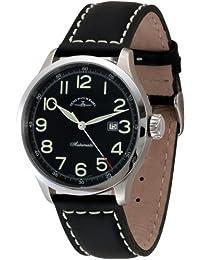 Zeno Watch Basel Retro Tre 6302-a1 - Reloj de caballero automático con correa de piel negra