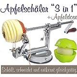 Sbuccia-mele 3 in 1, con contenitore per la mela grigio argentato