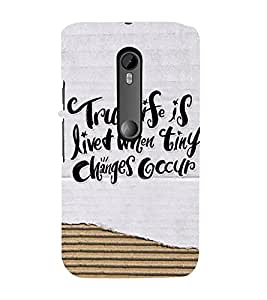 PrintVisa Designer Back Case Cover for Motorola Moto G3 :: Motorola Moto G (3rd Gen) :: Motorola Moto G3 Dual SIM (Importance Of Small Things In Life)