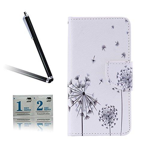 ARTLU® BQ Aquarius M5.0 Taschen Schalen PU Leder Tasche Schutzhülle Hülle Handy Etui Schale mit Ständerfunktion und Kreditkartenfächer für BQ Aquaris M5 (5.0 inches)A03