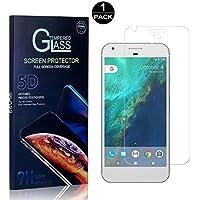 SONWO Protector Pantalla Google Pixel XL, Anti-Burbujas, Cristal Templado para Google Pixel XL Anti-despegamientos, Anti-arañazos, Cobertura Completa, 1 Piezas