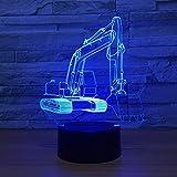 CFLEGEND 3D Nachtlichter Led Tischlampen Spielzeug Tischlampen Umgebungslichter Schlaflichter Babylichter Uhren Erstaunliche Optische Täuschung Führt Superman-Schreibtisch-Figuren