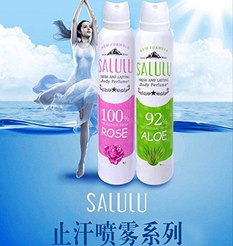 Salulu Fresh & Lasting Body Perfume Men & Women ( Rose & Aloe Flavour)