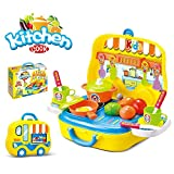Smartcraft Kitchen play set with wheels - Yellow , Pretend Play Set , Kitchen Play Set for Kids , Premium Quality , Toys great for Role Play