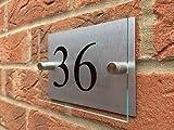 Numeri civici per case moderne in acrilico, alluminio e vetro