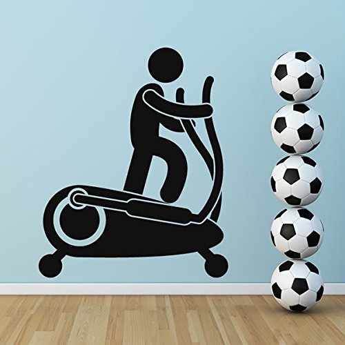 Cross-Trainer Wandaufkleber Wandtattoo Gym Kunst verfügbar in 5 Größen und 25 Farben Mittel Moosgrün