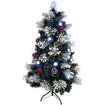8382503365f24 Christmas Concepts® 120cm (4 pies) Pre-iluminado Verde Fibra óptica Árbol de
