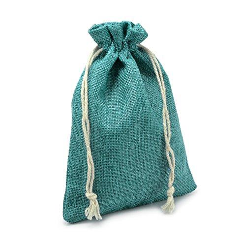 24er Set Jutesäckchen für Adventskalender zum selbst befüllen, 17,5cm x 12,5cm, Jutebeutel, Stoffbeutel, Natur Säckchen, Geschenksäckchen, Sack, Beutel – Marke Ganzoo (Dunkelgrün)