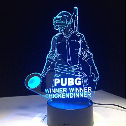 Ganador de PUBG Ganador Cena de pollo Juego de FPS Jugador Desconocido...