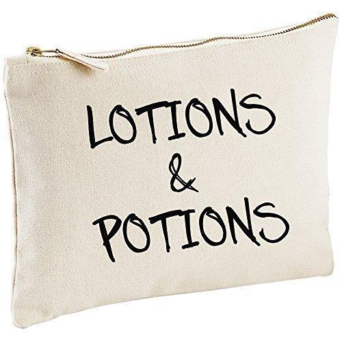 lotions et Potions Toile naturelle Make Up sac cadeau Idée Cadeau Sac cosmétique trousse de toilette cadeau