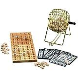 Jeu de bingo loto en bois avec distributeur de boules - 75 boules