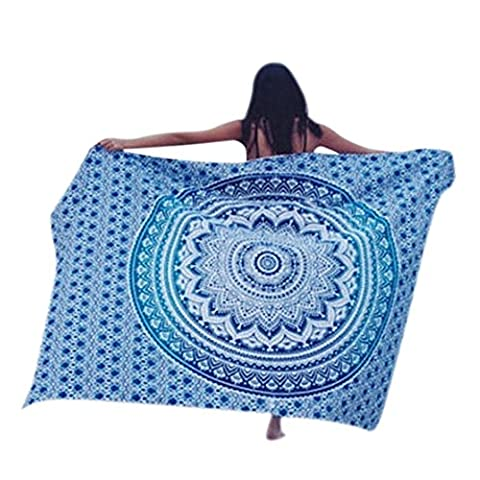 good01 58.3inches* 82.7inches Rectangle Polyester Hippy Boho Style Beach Throw Towel Cover Up -