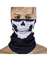 TeyxoCo Skull Face Mask for Cycling motorcycle Hiking Camping