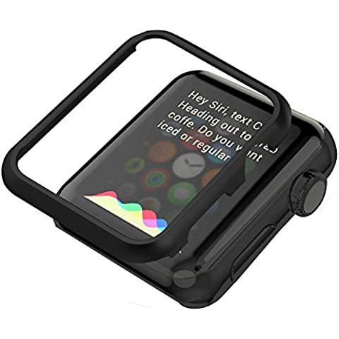 Apple Watch Funda Series 1 / 2  ,Bandmax 42mm Funda Negro Aluminio Protector de Pantalla Metálico Ligero Carcasa para Apple Watch 42mm Todos Los Modelos de Series 1/2 (42mm,Negro)