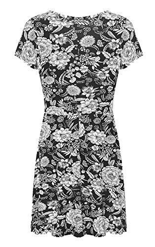 RIDDLEDWITHSTYLE Damen T-Shirt schwarz * Schwarz / Weiß