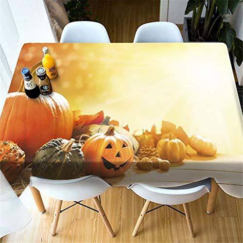 SONGHJ Polyester Tischdecke Halloween Kreative Kürbis Licht Gedruckt Tischdecke Wohnkultur Tischdecke Foto Farbe 80X180 cm