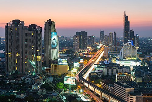 """Photos.com by Getty Images Bangkok in Twilight Time Poster 17\"""" x 11\"""""""