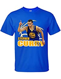 Yrewer Men s Stephen Curry Golden State Warriors  30 NBA Men s Name    Number T Shirt 032cce2712c1