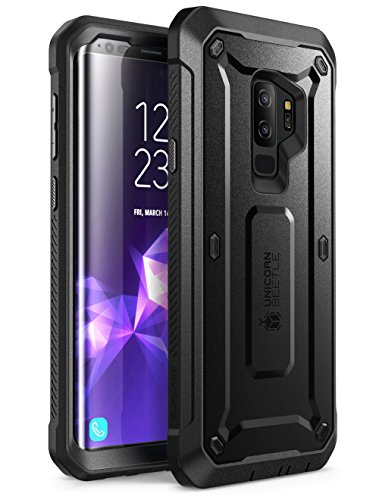 Samsung Galaxy S9 + Plus funda, SUPCASE Full-body rugged Holster funda con Protector de pantalla integrado para Samsung Galaxy S9 + Plus (2018 Release), Unicorn Beetle PRO Series – Paquete al por menor (negro)