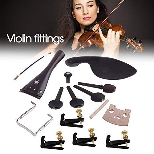 Professional 4/4 Violin Parts Wood Violin Zubehörset für Pioline/Klemme/Tuner/Schaftschnur/Zugschnur/Schraube