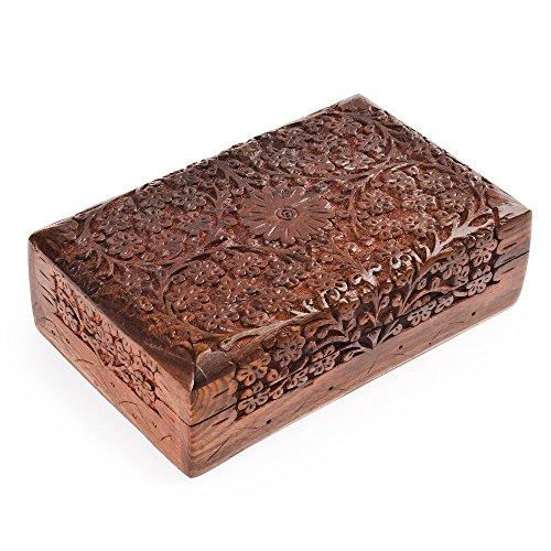 rusticity Holz jewelry box Organizer Deko | Handarbeit | (20,3x 12,7cm)