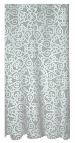 Spirella Orsini Pearl Rideau de douche en polyester textile Effet nacré Beige/blanc 120 x 200 cm