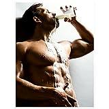 Topposter Sexy Poster - Muskulöser Boy Trinkt Milch (Poster in Gr. 40x60cm)