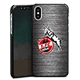 DeinDesign Apple iPhone X Hülle Case Handyhülle 1. FC Köln Metall Look Fussball