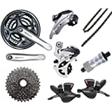 Shimano Altus SILVER 24 Speed Drivetrain Only Bicycle Gear Groupset 48T, 11-30T & Chain