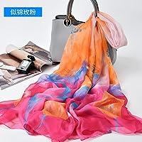 Schnee Seide gewebt Schal Sonnenschutz extra großes Badetuch Handtuch Badeort Schnee Garnen aus Seide gewebt Schal weiblichen Frühjahr und Herbst lang