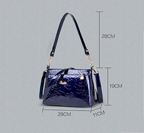 HQYSS Borse donna Pelle di spalla delle donne PU Classic Temperamento Messenger Bag borsa elegante regolabile Tote Bag , black blue