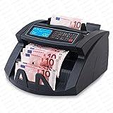 COMPTEUR DE BILLETS BANQUE COMPTEUSE ET DETECTEUR EURO Securina24® SR3750 LCD (noir - LCD)