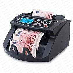 Stückzahlzähler Euro Geldscheine SR-3750 LCD UV/MG/IR von Securina24® (Schwarz - LCD)