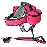 Cvthfyky Sattelförmiger Haustier-Hunderucksack für große und mittlere Hunde Outdoor-Traktion Dual-Use (Color : Red, Size : XL)
