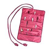 Veroda Oriental Silk Jewelry Wrap Roll Travel Case Makeup Bag