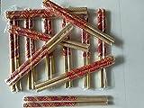 #4: Wooden Sankheda Dandiya Sticks (Multicolor, 12 Pairs, 1.7 cm Diameter x 36 cm Length) Dandiya Bandhni Decorated Wooden Garba Sticks for Navratri Celebration Garba Dandiya Sticks for Men Women Kid