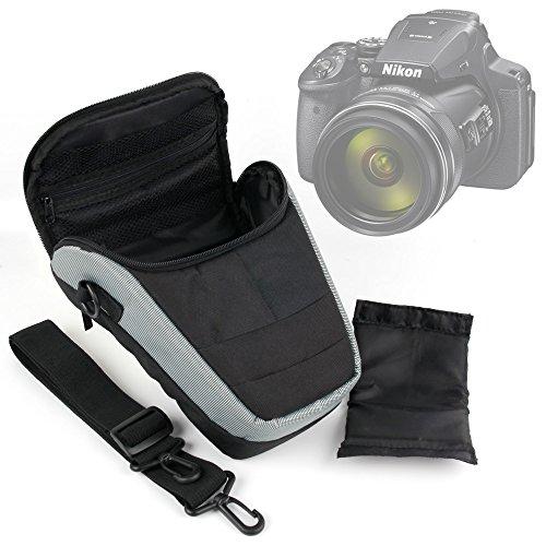 Galleria fotografica DURAGADGET Borsa Protettiva Per Nikon Coolpix L340, A10, AW130, P900, B700, S7000 | Sony DSC-HX60 , H300 , H400 , DSC-W810 | Easypix Aqua W1024 | Panasonic Lumix DMC-FZ72EF-K - Con Tracolla Regolabile + Maniglia