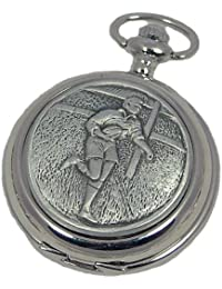 A E Williams 4837SK Rugby mens mechanical pocket watch with chain