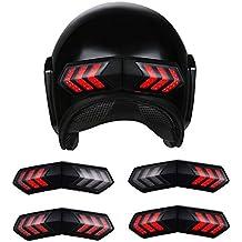 Alamor 12V inalámbrico casco de la motocicleta llevó los indicadores de luz de señal ...