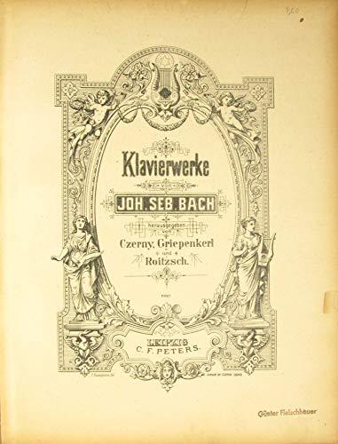 Joh. Seb. Bach. Klavierwerke (10627 und 8462)/Die 15 zweistimmigen Inventionen und die 15 dreistimmigen Sinfonien im Urtext (11037) - Sinfonie Czerny