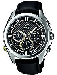 Casio Herren-Armbanduhr XL Edifice Analog Quarz Leder EFR-537L-1AVEF