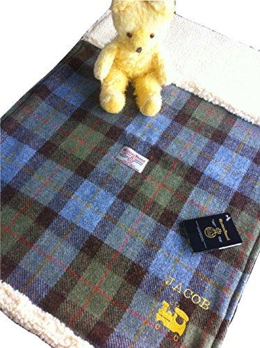 Baby Blanket - Jagd MacLeod Plaid Harris Tweed Hand gemacht in Schottland
