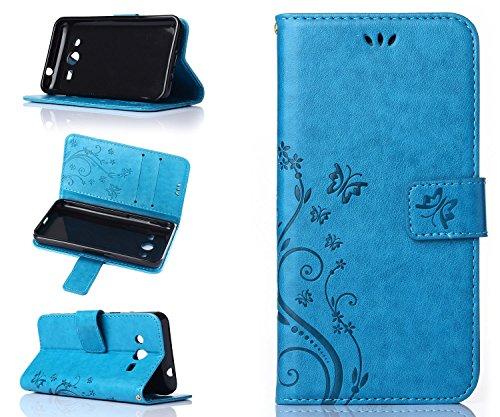 ZeWoo Folio Custodia in PU Pelle - R149 / Classico blu - per Samsung Galaxy Core 2 / Core 2 Duos (4.5 pollici) Custodia Protettiva