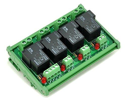 24 Volt 30 Amp (Electronics-Salon DIN-Schienen Coil 24 V Passive 4-Kanal spst-no 30 A 30 AMP POWER RELAY-MODUL.)