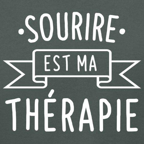 Sourire est ma thérapie - Femme T-Shirt - 14 couleur Gris Foncé