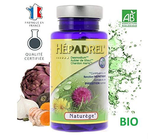 Hépadrel - 90 gélules de 400 mg Très dosées - Détox du foie - Hépatobiliaire (vésicule) -...