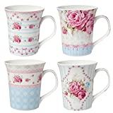 Clayre & Eef 6CEMS0021 Mugs 4 pieces 12x9x11 cm / 03L